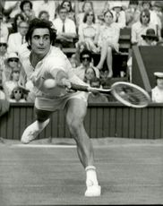 Roger Taylor plays in Wimbeldon