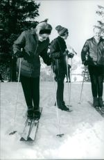 Princess Beatrix getting ready to ski.