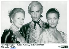 "Glenn Close, John Malkovich and Michelle Pfeiffer in ""Dangerous Desires"""