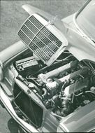 Motor car marcedes:the heart of new marcedes.