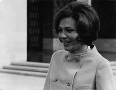 Close up of Princess Soraya, smiling.