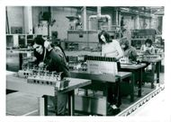 A mounting group at work in the Scania-Vabis petrol engine workshop