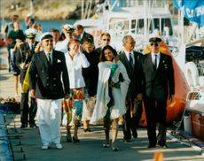 Swedish royal family together with Prince Henrik of Denmark on his way to the 100th anniversary of Sandhamn