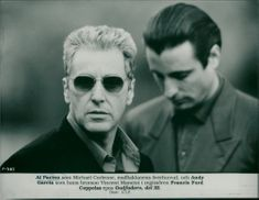Al Pacino as Michael Corleone, head of the Mafia Clan, and Andy Garcia as his nephew Vincent Mancini in director Francis Ford Coppola's epic Godfather, Part III.