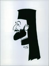 A drawing photo of Archbishop Makarios - Cypriot Politician - 1966
