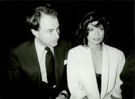 Bianca Jagger and Lord John Beaus Lyon