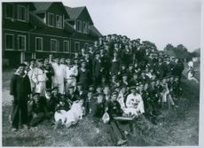 A group internees in Sweden during WWI.
