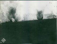 Bomb explosion during war.