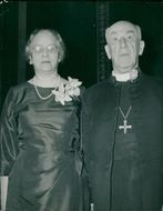 Geoffrey Fisher with Lady Rosamond Fisher.