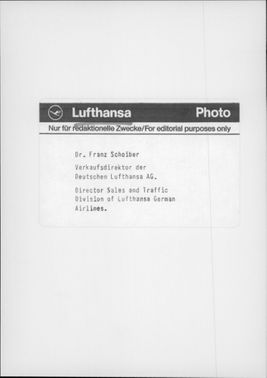Portrait image of Dr. Franz Schoiber, Head of Sales and Traffic at Lufthansa German Airlines.
