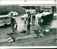road accidents:forty two passengers from the rhondda valley.