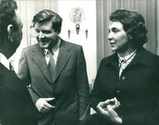 Marianne Strauss and Minister Meier