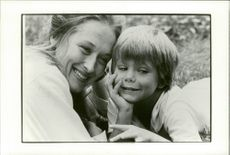 "The actors Meryl Streep and Justin Henry in the movie ""Kramer vs. Kramer"""