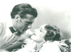 """Marlene Dietrich and Gary Cooper in the movie """"Marocco"""""""