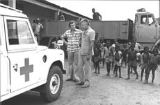 Sven Lampell Red Cross in Rwanda