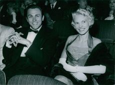 Howard Keel photographed with his wife Helen Anderson.