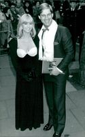 """Susan George and her husband Simon MacCorkindale at the premiere of the movie """"Stealing Heaven"""""""