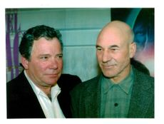 Patrick Stewart with William Shatner