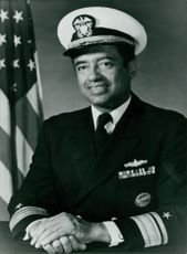 Rear-Admiral Gerald E Thomas in a portrait.