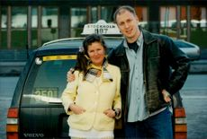 "The actors Lena Bergqvist and Lasse Karlsson in ""TAXI 234"""