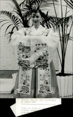 A Korean with the traditional costume for the Olympic Games