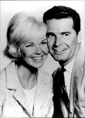 "Doris Day and James Garner in the movie ""Move Over, Darling"""