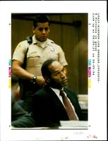 OJ Simpson appears in court at an evidentiary hearing.