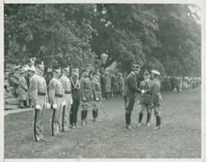 Swedish Crown Prince Couple Gustaf VI Adolf and Louise Mountbatten's Trip to the USA and Japan in 1926. Crown Prince visits West Point.