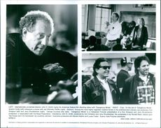 Internationally acclaimed director John N. Smith rehearses a scene with Michelle Pfeiffer in Dangerous Minds. Bottom are producers Don Simpson (left) and Jerry Bruckheimer.