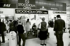 Mount for Stockholm Open at the fair