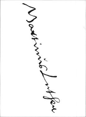 Martin Luther`s signature.