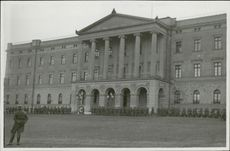 The heavily guarded Royal Palace of Norway 1942.