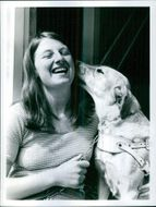 Dorothy Mallon with Imogen, her guide dog.