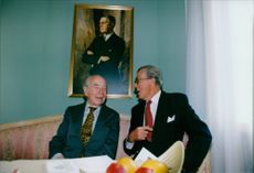 Brothers Sigvard and Carl Johan Bernadotte at the inauguration of Sofiero Castle and Castle Garden.