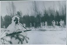 Soldiers during the Winter war, 1943.