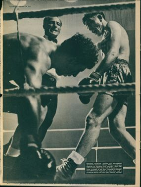 Citizens daily life and a boxing competition on magazine articles.  - Sep 1950