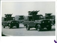 Indian anti-tank missiles (Armored Guard) are transported on jeeps
