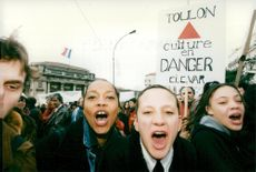 """France, demonstrations. The Socialist """"Train of Liberty"""" demonstrates in the right-voting Toulon"""