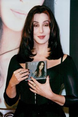 Cher on a book and CD signing