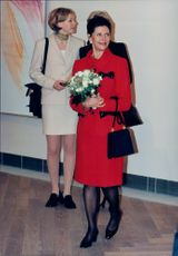 Queen Silvia at the inauguration of the new Modern Museum