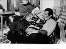 Roger Vadim with his wife and baby.