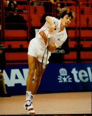 Michael Stich plays in the Stockholm Open