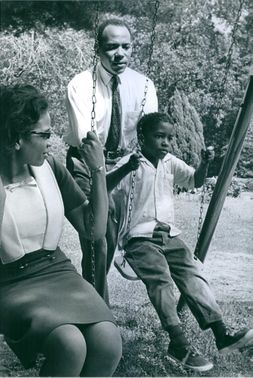James Meredith with his wife and son in free time.