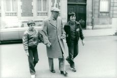 Carlo Ponti with his two sons Carlo Ponti Jr. And Edoardo Ponti