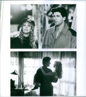 Meg Ryan and Alec Baldwin in the movie Prelude to a Kiss, 1992.