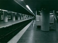 A view of München Marienplatz subway station.