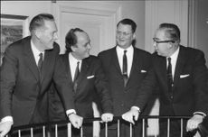 US Campaign Steering Committee; Bank Director Eric Lindstrom, museidir. Sigvard Strandh, director Ulf Hasselberg chief Tell Dahlöf