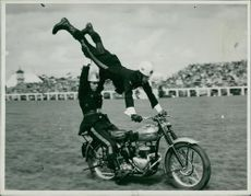 Royal Norfolk Show : Daredeirl Motorcycle Team 1958