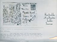 A postcard to the Santa Claus from a Brazilian boy at the Postmuseum
