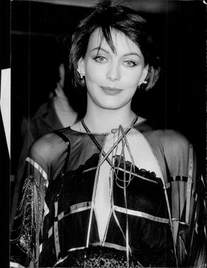"""Lesley-Anne Down arrives at the premiere of """"The Pink Panther Strikes Again"""""""